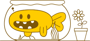 Peixim, o .mascote do .marcamaria