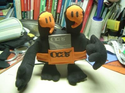 """dOcas"""" boneco para TCC da Revista Ocas"""" (2007)"""