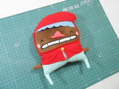 """Chapeuzinho vermelho menino para o curso """"Aprenda a Bonecar"""" da eduK (2015)"""