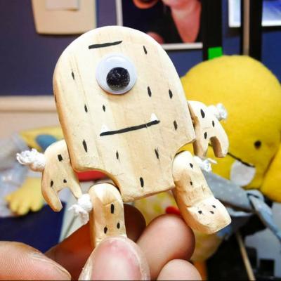 Boneco de madeira - primeiro estudo (2017)