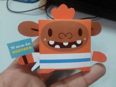 Paper toy em comemoração do primeiro ano de vida do meu filho (2019)
